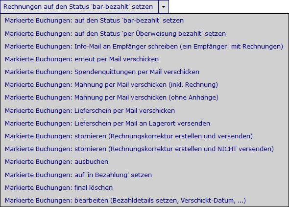 Rechungsliste Wirtschaftsjunioren Ingolstadt Ev